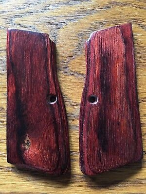 SMOOTH RED COCOBOLO Grips For Browning Hi Power