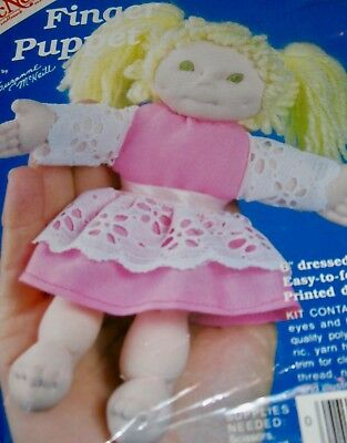 "McNeill Finger Puppet ""KRISTY"" 6"" Dressed Doll Kit No. 1774 NIP!"
