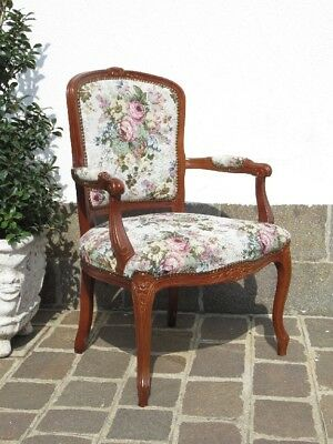 Design Toscano Armchair Small Armchair The Wood And Cloth Style Louis Xv