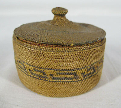 ATQ Pacific Northwest Coast Native American Nuu-chah-nulth Indian Basket #4 yqz