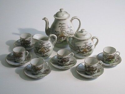 Antique Service Coffee' Porcelain Eastern Giapponese Painted '900