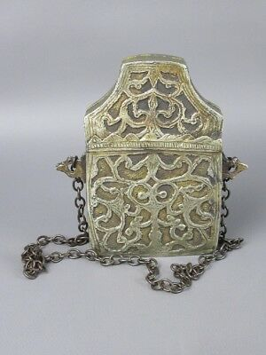 Antique Box Bag Container Eastern Ceremonial Recorded At Hand