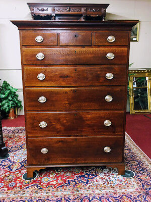Gettysburg Antique Tall Chest - Walnut Chest of Drawers - Delivery Available