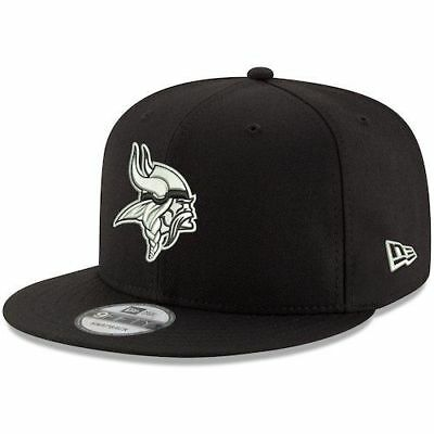 b934b1c3b Men s New Era 9FIFTY Minnesota Vikings Basic Logo Snapback Hat Cap Black  White