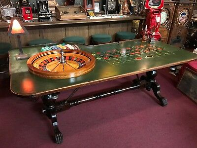 """Early 1900's Nevada Casino Ball & Claw Foot Roulette Table  """"Watch Video"""""""