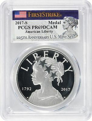 2017-S 225th Anniversary Silver Medal PR69DCAM PGCS First Strike Liberty