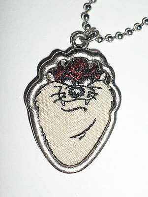 Looney Tunes Tazmanian Devil Necklace, Warner Bros 1998 by Starline