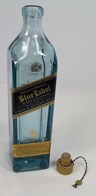 Johnnie Walker Blue Label Scotch Whiskey Empty Bottle with Cork 750ml