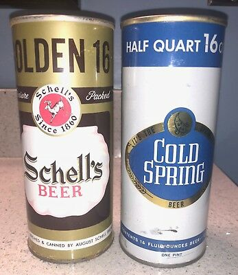 Schell's and Cold Spring 16 oz. Cans - Nice Lot - Minnesota
