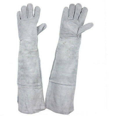 1 Pair Superior Mig Welding Gauntlets Protective Gloves Heat Resistant Leather