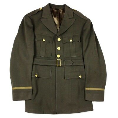 Us Army Air Forces Usaaf Aac Officers Od Wool Gabardine Dress Jacket Coat