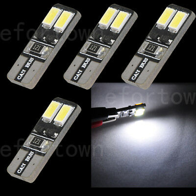 4pcs Canbus T10 194 168 W5W 5630 4 LED SMD Car Side Wedge Light Bulb Error Free