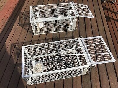 TWO HUMANE RAT Traps Cages Animal Pest Rodent Mice Mouse Control Live Bait  Catch