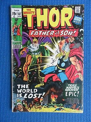 The Mighty Thor # 187 - (Vg) - Father Vs Son - The World Is Lost