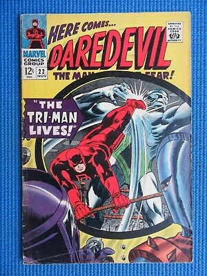 Daredevil # 22 - (Vg+) - The Tri-Man Lives