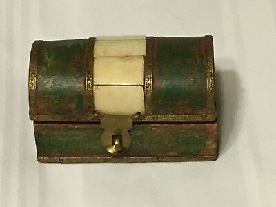 Antique wooden box with inlay.