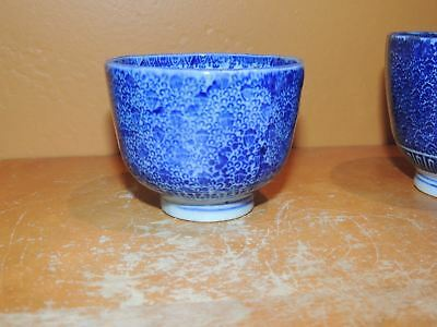 "ONE Chinese Cup 2.75""x 2.25"" Blue & White Qing dynasty 19th Antique Vintage"