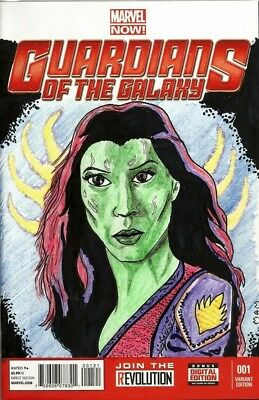 Blank variant sketch cover Gamora -Guardians of the galaxy