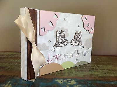 VINTAGE LOOK Love Engagement Wedding PHOTO ALBUM BRAND NEW Boxed Gift BNIB