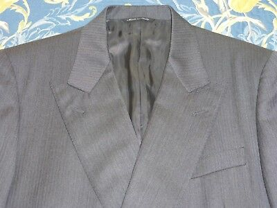 CANALI SUPER 120s £1000 FINE TWEED SUIT 1940s DEMOB STYLE Jacket 40 Trousers 34