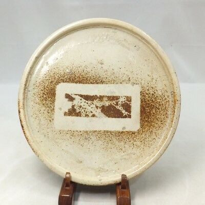 G161: Real old Japanese SETO pottery plate Popular ANDON-ZARA in 18c