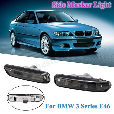 2X Side Marker Lights LED Turn Indicator For BMW 3 Series E46 4Dr /2Dr Coupe 99