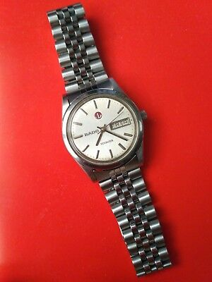 Vintage Rado Voyager Automatic day date swiss made wristwatch