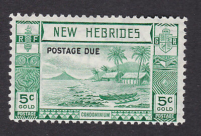 New Hebrides 1938 5c green Postage Due S.G. D6  mint hinged