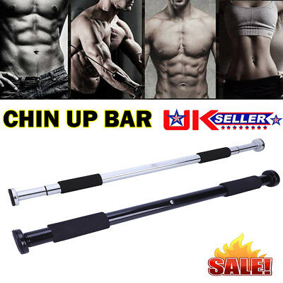 UK 62-100cm Door Bar Chin Pull Ups Home Gym Fitness Strength Exercise Training