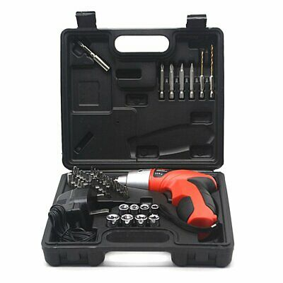 45Pcs Cordless Reversible Rechargeable Drill Bit 4.8V Electric Screwdriver Set