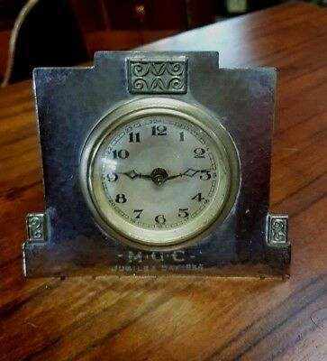 Liberty Tudric Art Deco  Royal Jubilee Bedside Clock King George V  very rare