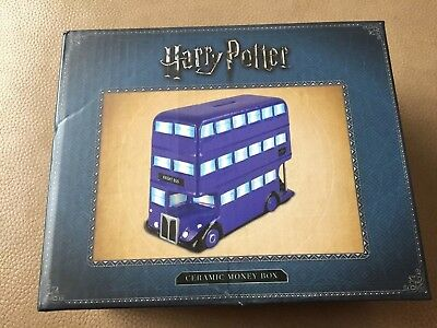 New Harry Potter Knight Bus Ceramic Money Box Piggy Bank Savings Coins Official