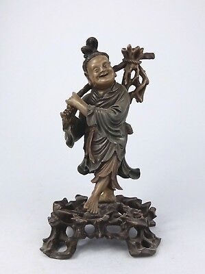 BETTER Quality FOOCHOW Lacquered WOOD FIGURE  in NICE CONDITION fuzou Chinese