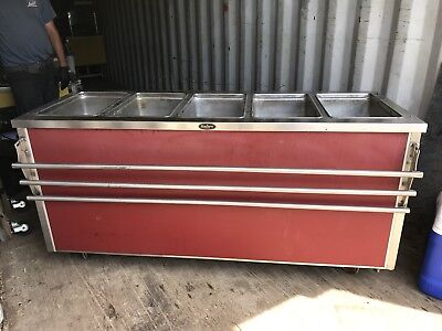 SECO BUFFET TABLE Portable Serving Line Food Cart Portable Cafeteria - Cafeteria steam table