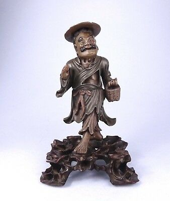 A BETTER Quality FOOCHOW Lacquered WOOD FIGURE  fuzou Chinese