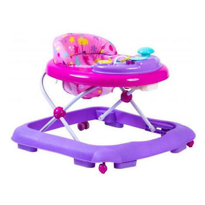 Baby Walker pink Activity First Steps Music Melody Toy Car 3 Heights Bright Car-