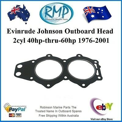 A Brand New Evinrude Johnson Head Gasket 2cyl 40hp-thru-60hp 1976-2001 # 327795