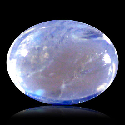 1.46 ct AAA Oval Cabochon (8 x 6 mm) Rainbow Blue Moonstone Loose Gemstone
