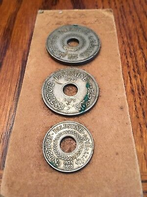 PALESTINE MILS HEBREW MIXED TYPE WORLD COIN COLLECTION LOT Of 3