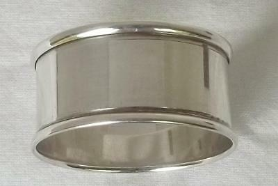 A Fine Boxed Solid Sterling Silver Napkin Ring By Charles Horner Chester 1920.