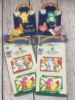 Care Bear Lot - 1 Magnetic Belt, 4 Magnets and 12 Gift Trim Christmas Tags