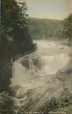 Castile New York~Lower Gorge Falls~1910 Real Photo Postcard~RPPC