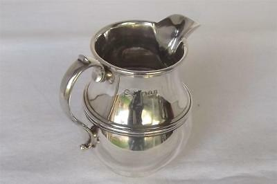 A Fine Antique Solid Sterling Silver Cream Jug By Robert Stewart London 1925.
