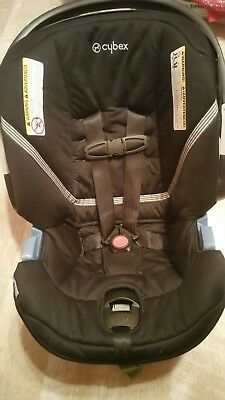 Infant Car Seat and Base Cybex Aton 2  Rear Facing Lightweight in Black Beauty