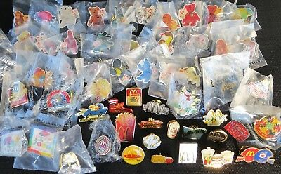 PIN LOT #3 56 DIFFERENT VINTAGE McDONALDS PINS 80s - 90s VENDOR CREW BEANIE BABY