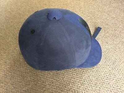 Navy blue two tone Just Togs Imperial riding helmet. Size 57 used