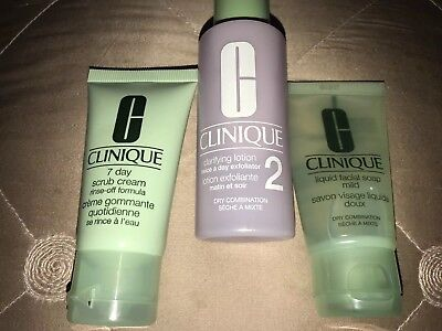 Clinique Brand New Clarifying Lotion 2, Liquid Facial Soap, 7 Day Scrub Cream
