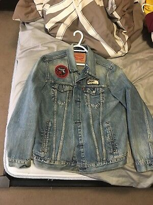 Levi's Jim Phillips Jimbo Collab Denim Trucker Jacket L large Glock jacket jean
