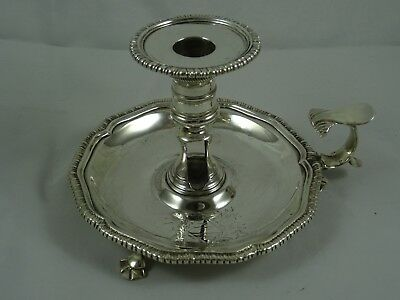 VINTAGE, GEORGE III solid silver CHAMBER STICK, 1762, 394gm