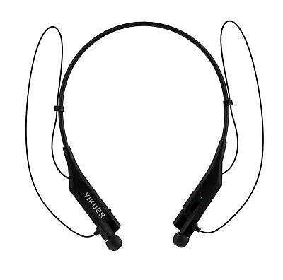 Bluetooth Headphones CALL ALERT VIBRATING Wireless Neckband Headset Stereo Mic